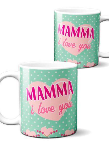 """Tazza in ceramica divertente Festa della Mamma """" i Love You"""""""